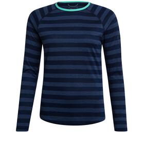 Berghaus Stripe Tech 2.0 SS Crew T-shirt Dames, dusk/vintage indigo